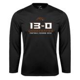 Syntrel Performance Black Longsleeve Shirt-13-0 Undefeated Football Season 2016