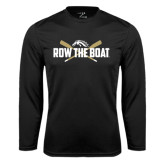 Syntrel Performance Black Longsleeve Shirt-Row the Boat