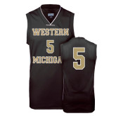 Replica Black Adult Basketball Jersey-#5