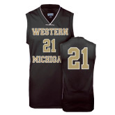Replica Black Adult Basketball Jersey-#21