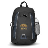 Impulse Black Backpack-WMU w/ Bronco Head