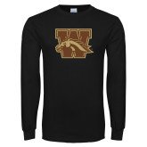 Black Long Sleeve TShirt-W w/ Bronco