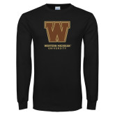 Black Long Sleeve TShirt-Western Michigan University w/ W