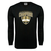 Black Long Sleeve TShirt-2016 Marathon MAC Football Champions