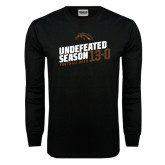 Black Long Sleeve TShirt-Undefeated Season Football 2016