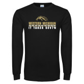 Black Long Sleeve T Shirt-It Takes Sev7n