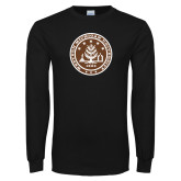 Black Long Sleeve T Shirt-WMU Seal