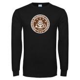 Black Long Sleeve T Shirt-WMU Seal