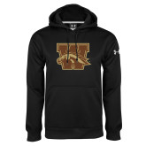Under Armour Black Performance Sweats Team Hoodie-W w/ Bronco