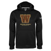 Under Armour Black Performance Sweats Team Hoodie-Western Michigan University w/ W