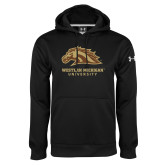 Under Armour Black Performance Sweats Team Hoodie-Western Michigan University w/ Bronco Head