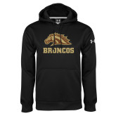 Under Armour Black Performance Sweats Team Hoodie-Broncos w/ Bronco Head