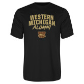Performance Black Tee-Arched Western Michigan Alumni