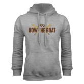 Grey Fleece Hood-Row the Boat