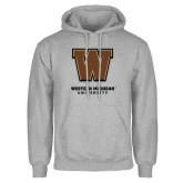 Grey Fleece Hoodie-Western Michigan University w/ W