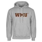 Grey Fleece Hood-WMU
