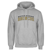 Grey Fleece Hoodie-Arched Western Michigan Broncos