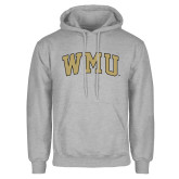 Grey Fleece Hoodie-Arched WMU