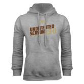 Grey Fleece Hood-Undefeated Season Football 2016