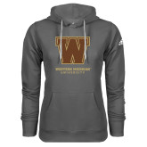 Adidas Climawarm Charcoal Team Issue Hoodie-Western Michigan University w/ W