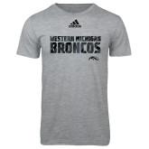 Adidas Sport Grey Logo T Shirt-Adidas Western Michigan Broncos