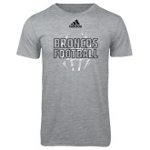 Adidas Sport Grey Logo T Shirt-Adidas Broncos Football