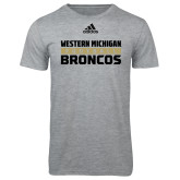 Adidas Sport Grey Logo T Shirt-Adidas Western Michigan Broncos Football