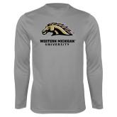 Performance Steel Longsleeve Shirt-Western Michigan University w/ Bronco Head