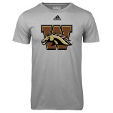 Adidas Climalite Sport Grey Ultimate Performance Tee-W w/ Bronco
