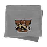 Grey Sweatshirt Blanket-W w/ Bronco
