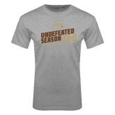 Grey T Shirt-Undefeated Season Football 2016