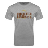 Grey T Shirt-Undefeated Season 13-0 Football 2016