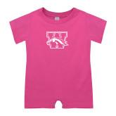 Bubble Gum Pink Infant Romper-W w/ Bronco