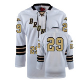 White Hockey Replica Jersey-#29