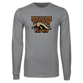 Grey Long Sleeve T Shirt-W w/ Bronco