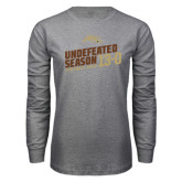 Grey Long Sleeve T Shirt-Undefeated Season Football 2016