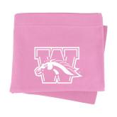 Pink Sweatshirt Blanket-W w/ Bronco