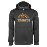 Under Armour Carbon Performance Sweats Team Hoodie-Broncos w/ Bronco Head