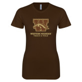 Next Level Ladies Softstyle Junior Fitted Dark Chocolate Tee-Track & Field