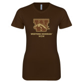 Next Level Ladies Softstyle Junior Fitted Dark Chocolate Tee-Mom