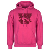Fuchsia Fleece Hoodie-W w/ Bronco Hot Pink Glitter