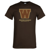 Brown T Shirt-Western Michigan University w/ W