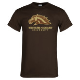 Brown T Shirt-Western Michigan University w/ Bronco Head