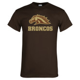 Brown T Shirt-Broncos w/ Bronco Head