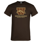 Brown T Shirt-Basketball