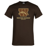 Brown T Shirt-Hockey