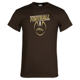 Brown T Shirt-WMU Football Slanted w/ Ball