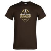 Brown T Shirt-Western Michigan Bronco Football w/ Ball