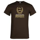 Brown T Shirt-Western Michigan Bronco Football w/ Helmet