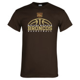 Brown T Shirt-Broncos Basketball Half Ball